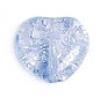 Glass Bead Cracked 8mm Heart Light Blue Dyed - Strung